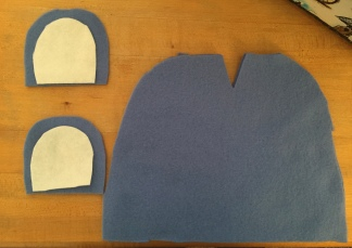 Fleece hat cutouts