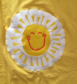 Appliqued felt for Funshine Bear